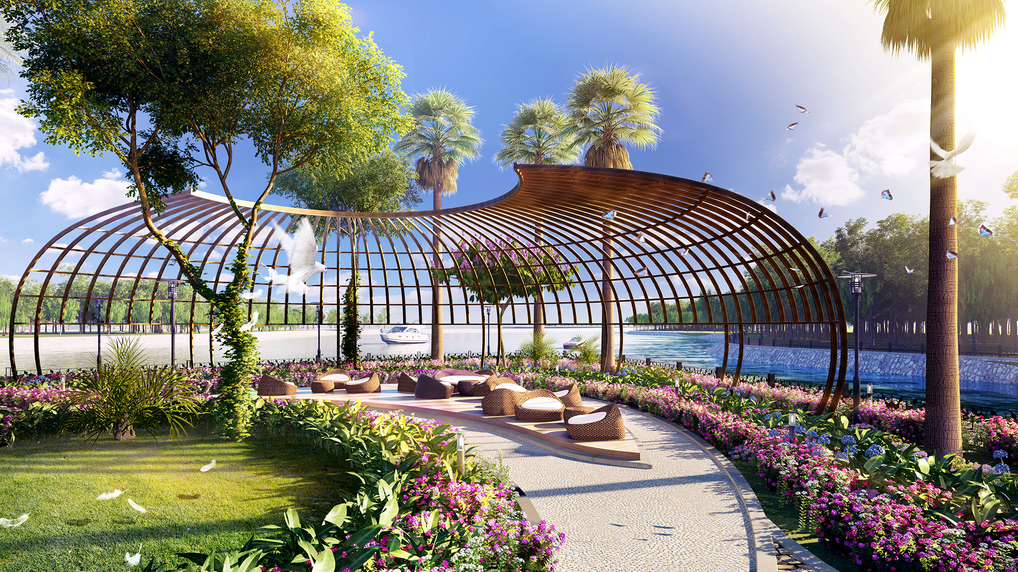 Outdoor area - artist's impression
